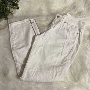 MADEWELL Skinny Skinny Crop Jeans with Side Zipper